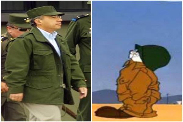 Meme de Calderon al ser nombrado por AMLO Comandante Borolas Foto: Twitter