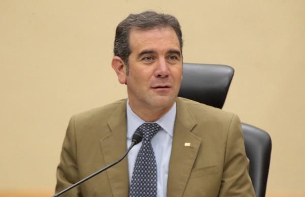 Lorenzo Córdova Vianello, Consejero Presidente del Instituto Nacional Electoral (INE), durante la Sesión Extraordinaria del Consejo General en el INE.  FOTO: INE /CUARTOSCURO.COM