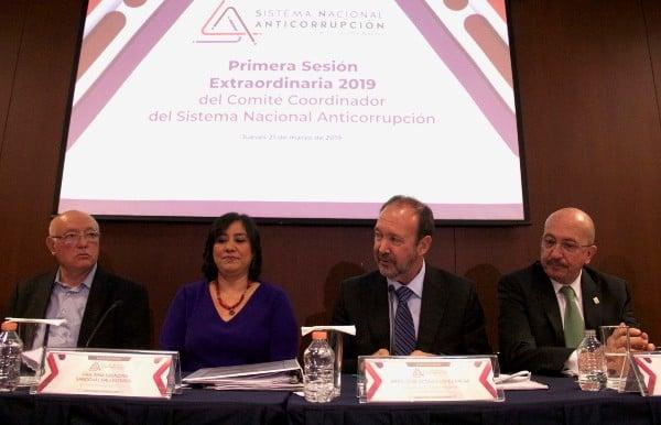 INICIOS. En marzo, el Sistema Nacional Anticorrupción celebró su primer sesión de 2019. Foto: Cuartoscuro