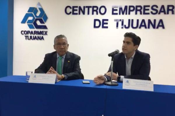 Coparmex Tijuana va en contra de Ley Bonilla. Foto: Coparmex Tijuana