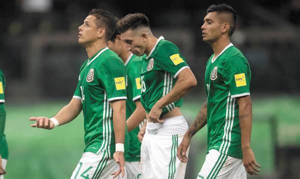 OPORTUNIDAD. Javier Hernández, Héctor Herrera y Jesús Manuel Corona volvieron a ser convocados por Gerardo Martino. Foto: MEXPORT