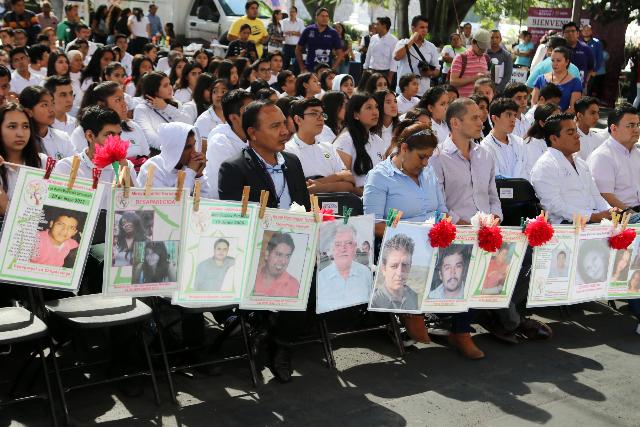 Diversos colectivos de víctimas y desaparecidos del estado de Morelos. FOTO: Cuartoscuro-