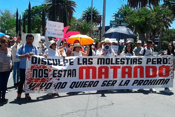 Protesta_desapariciones_feminicidios_Hidalgo
