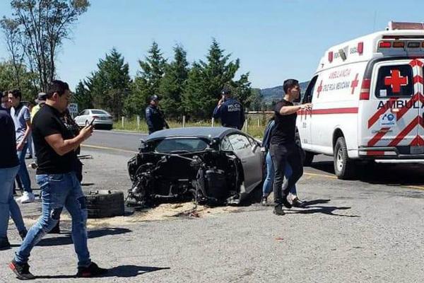 choque Lamborghini partido estado de méxico