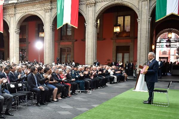 Andrés Manuel López Obrador, Presidente de México, presentó su ¨Tercer Informe de Gobierno al Pueblo de México¨, en el Patio de Honor de Palacio Nacional. FOTO: PRESIDENCIA /CUARTOSCURO.COM