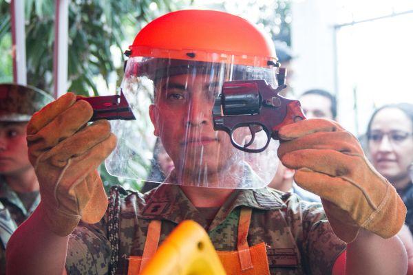 Recordó que del 21 de enero a la fecha, se han recolectado y destruido un total de 3 mil 941 armas de fuego. Foto: Cuartoscuro