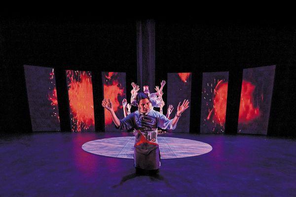 El espectáculo describe el acto de recobrar el camino y el entendimiento. Foto: Cortesía