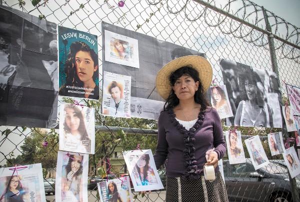 ACTIVA. Araceli Osorio, madre de Lesvy, acudió al Reclusorio Oriente; ella es hoy activista en pro de las mujeres. Foto: Cuartoscuro