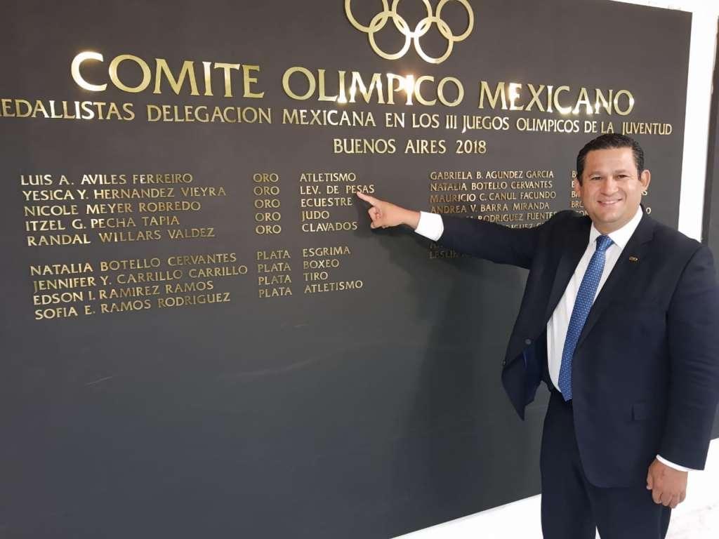 El gobernador Diego Sinhue Rodríguez Vallejo testificó la firma del convenio de colaboración entre la Comisión de Deporte del Estado de Guanajuato (CODE) y el Comité Olímpico Mexicano (COM). Foto: Especial