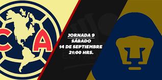 América y Pumas se enfrentan en un clásico capitalino en la jornada 9 de la Liga MX
