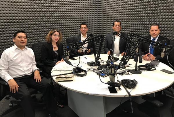 Jorge Ramos, Doria Vélez, Alfredo González, Sergio Gutiérrez Luna, Manelich Castilla