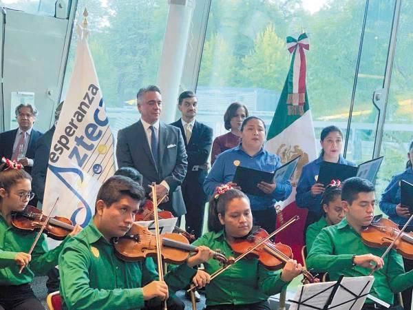CONCIERTO. La orquesta tocó durante 90 minutos.  Foto: Cortesía.