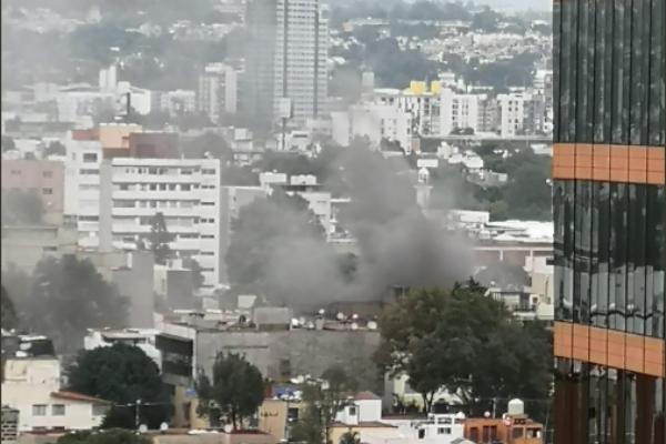 incendio en departamento en alcaldía Benito Juárez