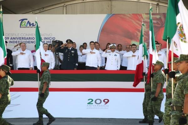 Durante el desfile conmemorativo del 209 Aniversario del Inicio de la Independencia Nacional. Foto. Especial