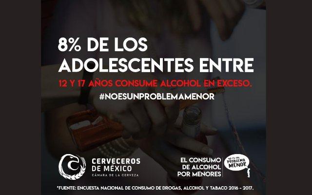 Cerveceros Mexicanos lanza campaña para evitar consumo de alcohol en menores de edad