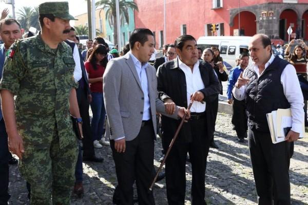 El macro simulacro se hizo con toda la cooperación en el estado de Puebla. FOTO: Gobierno Puebla.