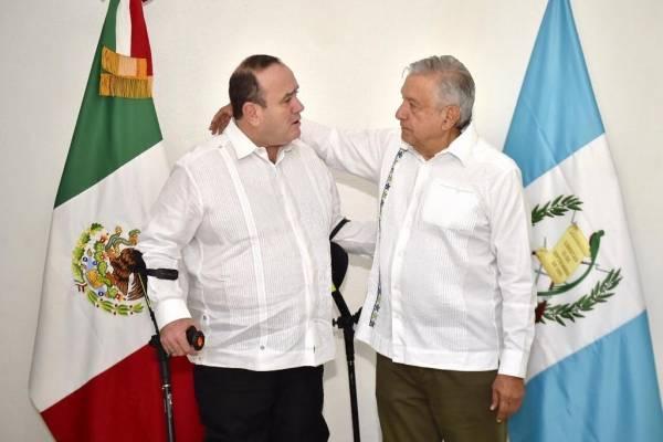 FRONTERA. El Ejecutivo se reunió con el presidente electo de Guatemala, Alejandro Giammattei. Foto: Especial
