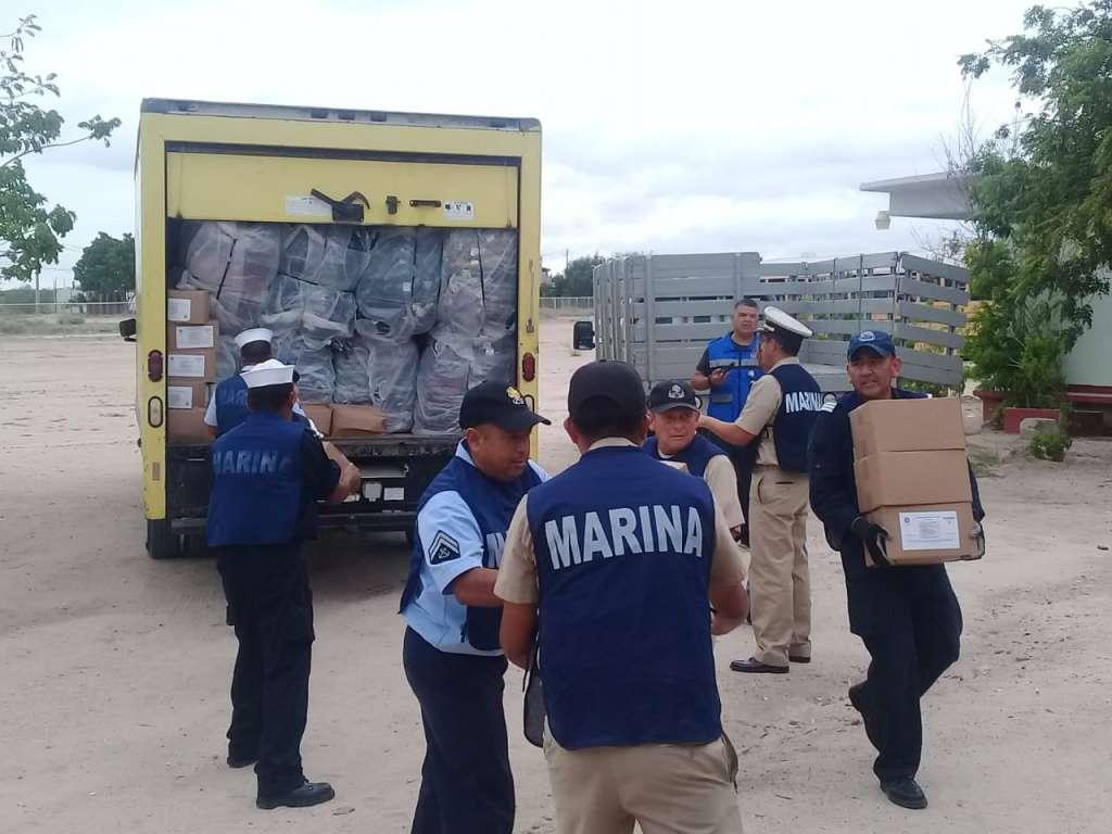La Secretaría de Marina-Armada de México a través del Plan Marina, ratifica el compromiso de brindar auxilio a la población civil en casos y zonas de desastre. Foto: Especial