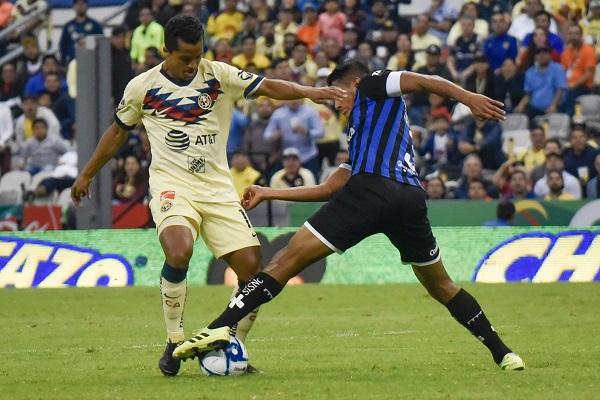 Las Águilas del América, empataron en el marcador 2 a 2 frente a los gallos blancos de Querétaro, en partido correspondiente a la jornada 10 del Torneo Apertura 2019 de de la Liga MX. Foto: Cuartoscuro