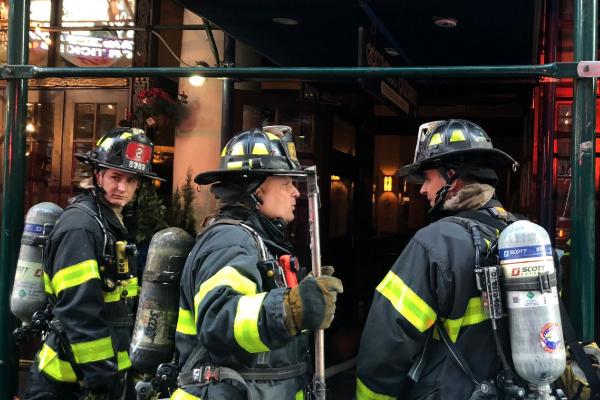 Times Square incendio rascacielos Manhattan