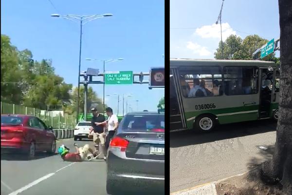Los conductores también robaron una cámara al ciclista. Foto: Especial
