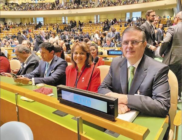 GLOBAL. La delegación mexicana participa en la Asamblea General de ONU en Nueva York. Foto: Especial