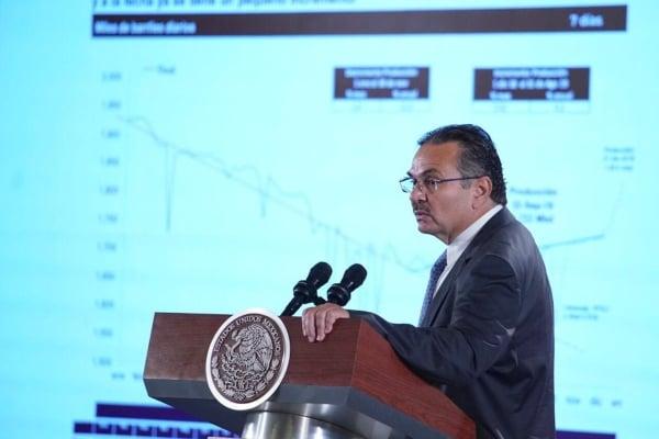 El director de Petróleos Mexicanos (Pemex), Octavio Romero Oropeza. Foto: Presidencia