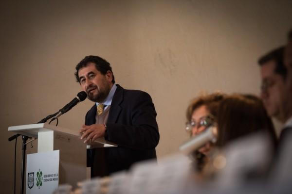 César Cravioto, comisionado para la reconstrucción de la CDMX, estuvo presente. Foto: Cuartoscuro