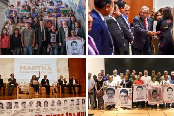 El presidente López Obrador se ha apoyado en Sánchez Cordero y Encinas. Foto: Presidencia