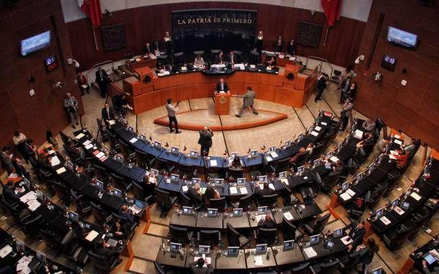 Aspecto de sesión Ordinaria en la Cámara de Senadores. FOTO: ANDREA MURCIA /CUARTOSCURO.COM