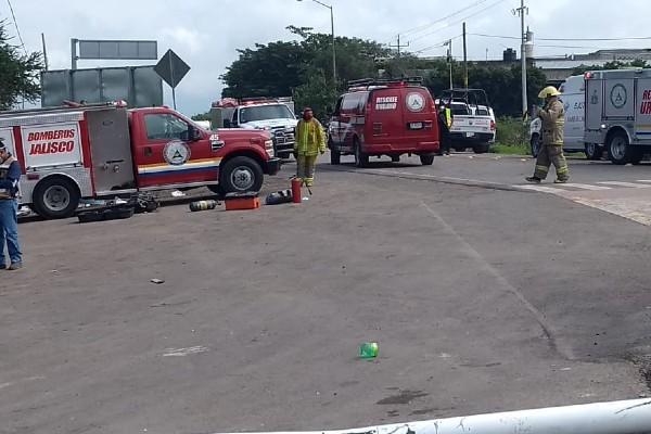 La Unidad Estatal de Protección Civil y Bomberos de Jalisco atendió el accidente. Foto: Especial