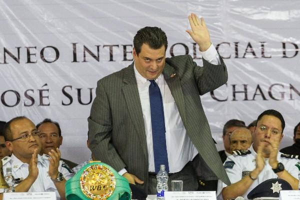 Mauricio Sulaimán Saldivar, presidente del Consejo Mundial de Box, durante la inauguración del Torneo Internacional de BOX