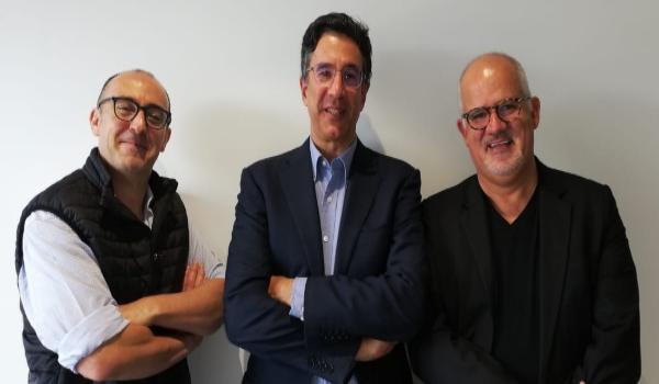 Carlos Elizondo junto a Julio Patán y Juan Ignacio Zavala Foto: ESPECIAL