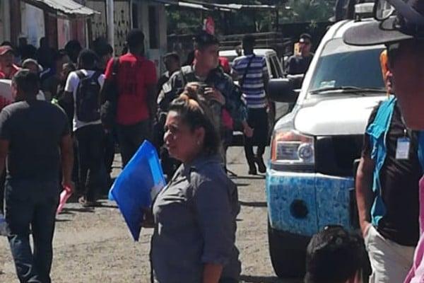 Los migrantes africanos protestaron en Tapachula. Twitter: Refugio Stgo
