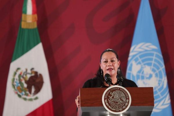 María Luisa Albores González, secretaria de Bienestar. Foto: Presidencia