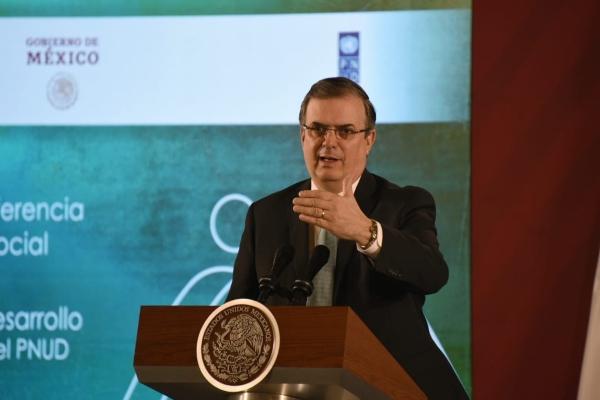El titular de la Secretaría de Relaciones Exteriores (SRE), Marcelo Ebrard. Foto: Daniel Ojeda