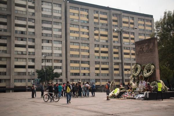 Plaza de las Tres Culturas en Tlatelolco. Foto: Cuartoscuro