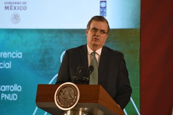 El titular de la Secretaría de Relaciones Exteriores, Marcelo Ebrard. Foto: Daniel Ojeda