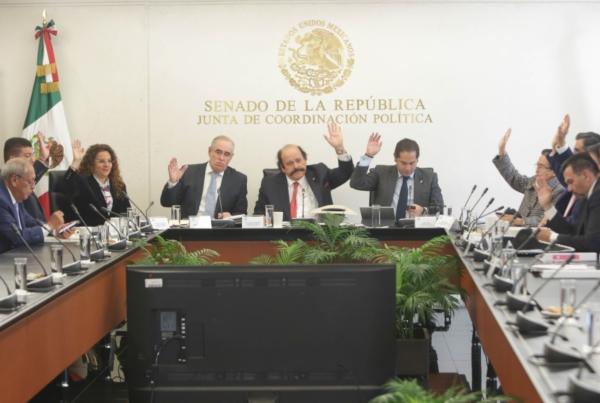 La Comisión de Energía del Senado de la República. Foto: @senadomexicano