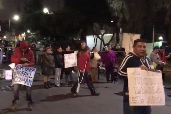 Acueducto protesta vecinos Ticoman