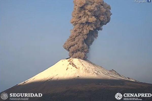popocatepetl volcan explosiones 2 octubre