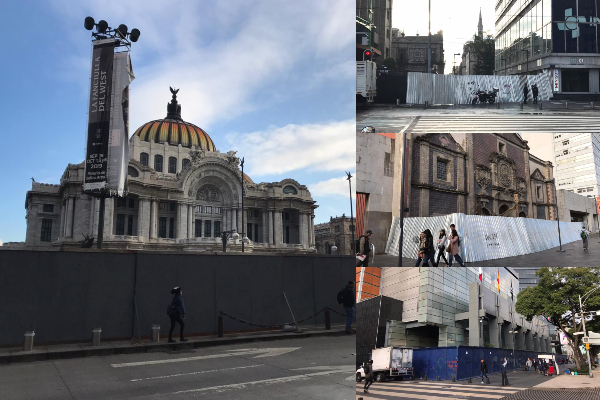 marcha 2 octubre cdmx blindan monumentos edificios