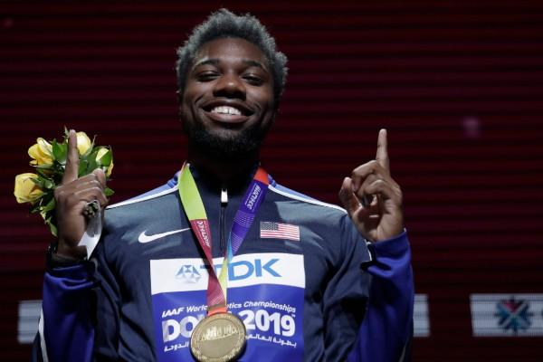 Noah Lyles se convirtió en el hombre más rápido de los 200 metros. AP