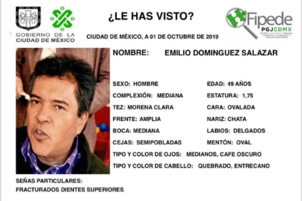 Ficha de búsqueda del catedrático Emilio Domínguez Salazar. Foto: UAM Iztapalapa