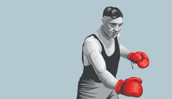 JESS WILLARD. Miembro del Salón Internacional de la Fama del Boxeo de Canastota, Nueva York (2003). Ilustración: Allan G. Ramírez