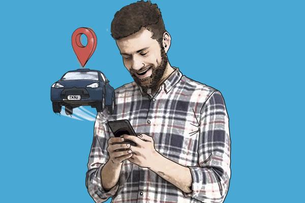 APPS PARA MOVERTE. Waze, Google Maps, Modalyzer.  Ilustración: Norberto Carrasco