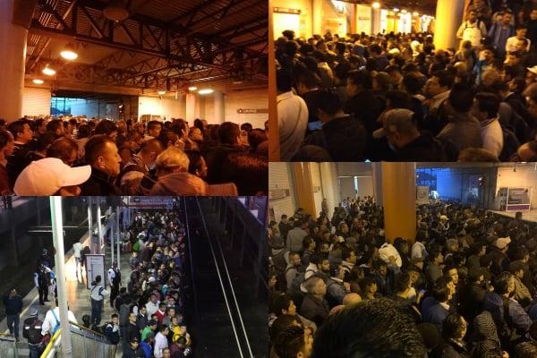 Linea A del Metro caos estacion la paz