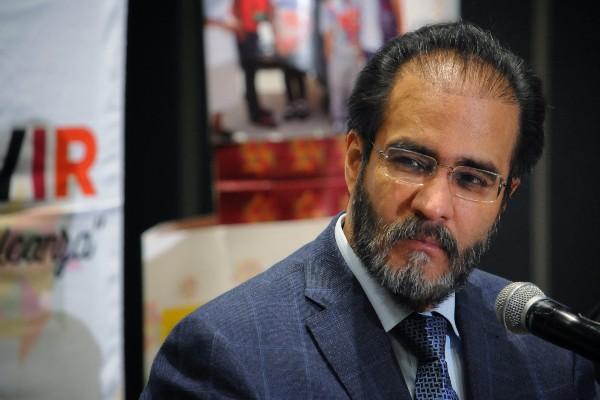 René Bejarano, presidente del Movimiento Nacional por la Esperanza,. FOTO: DIEGO SIMÓN SÁNCHEZ /CUARTOSCURO.COM