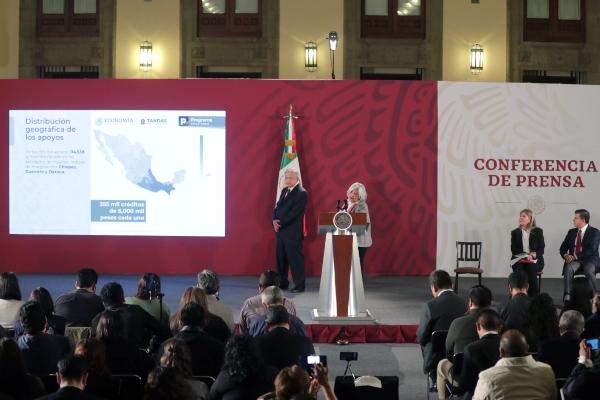 Presentación del Programa Tandas para el Bienestar. Foto: Presidencia