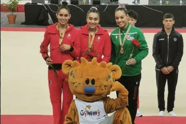 La gimnasta Elsa García denunció a los entrenadores europeos. Twitter: Elsa García